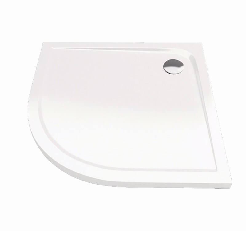 Sprchová vanička Bathmaker A201 čtvrtkruhová 90×90 cm, R 550, akrylát