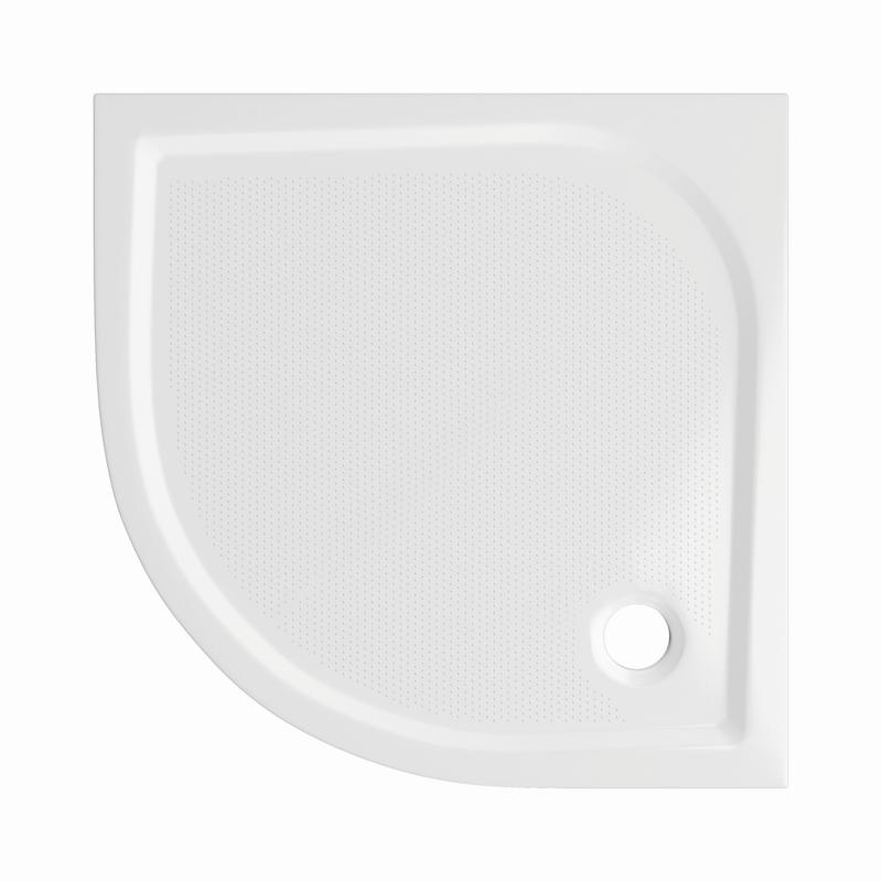 Sprchová vanička Bathmaker A301 čtvrtkruhová 80×80 cm, R 550, litý mramor