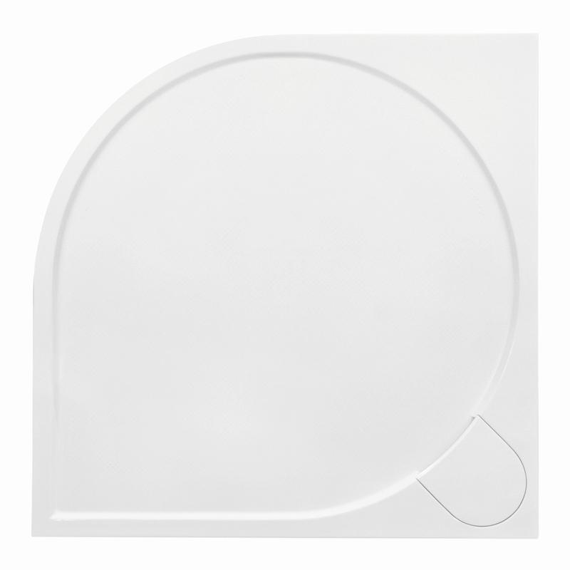 Sprchová vanička Bathmaker A401 čtvrtkruhová 90×90 cm, R 550, litý mramor