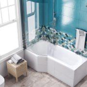 Vanová zástěna Bathmaker Be Next, 75×140 cm, levá