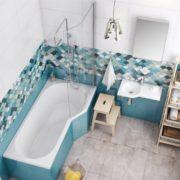 Vanová zástěna Bathmaker Be Next, 75×140 cm, pravá