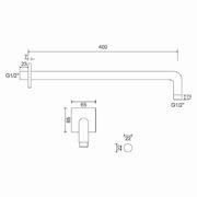 Technický nákres Bathmaker HSA40R