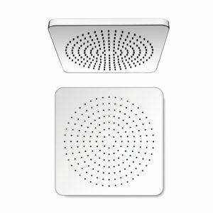 Hlavová sprcha mosazná, hranatá 25×25 cm