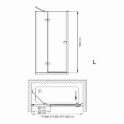 Technický nákres Bathmaker S401 D L