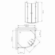 Technický nákres Bathmaker S401 Q 190_90x90