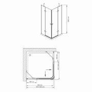 Technický nákres Bathmaker S401 S 190_100x100