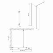 Technický nákres Bathmaker S801 FP 90+30 cm