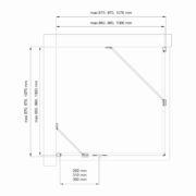 Technický nákres Bathmaker S401 D + S401 FP